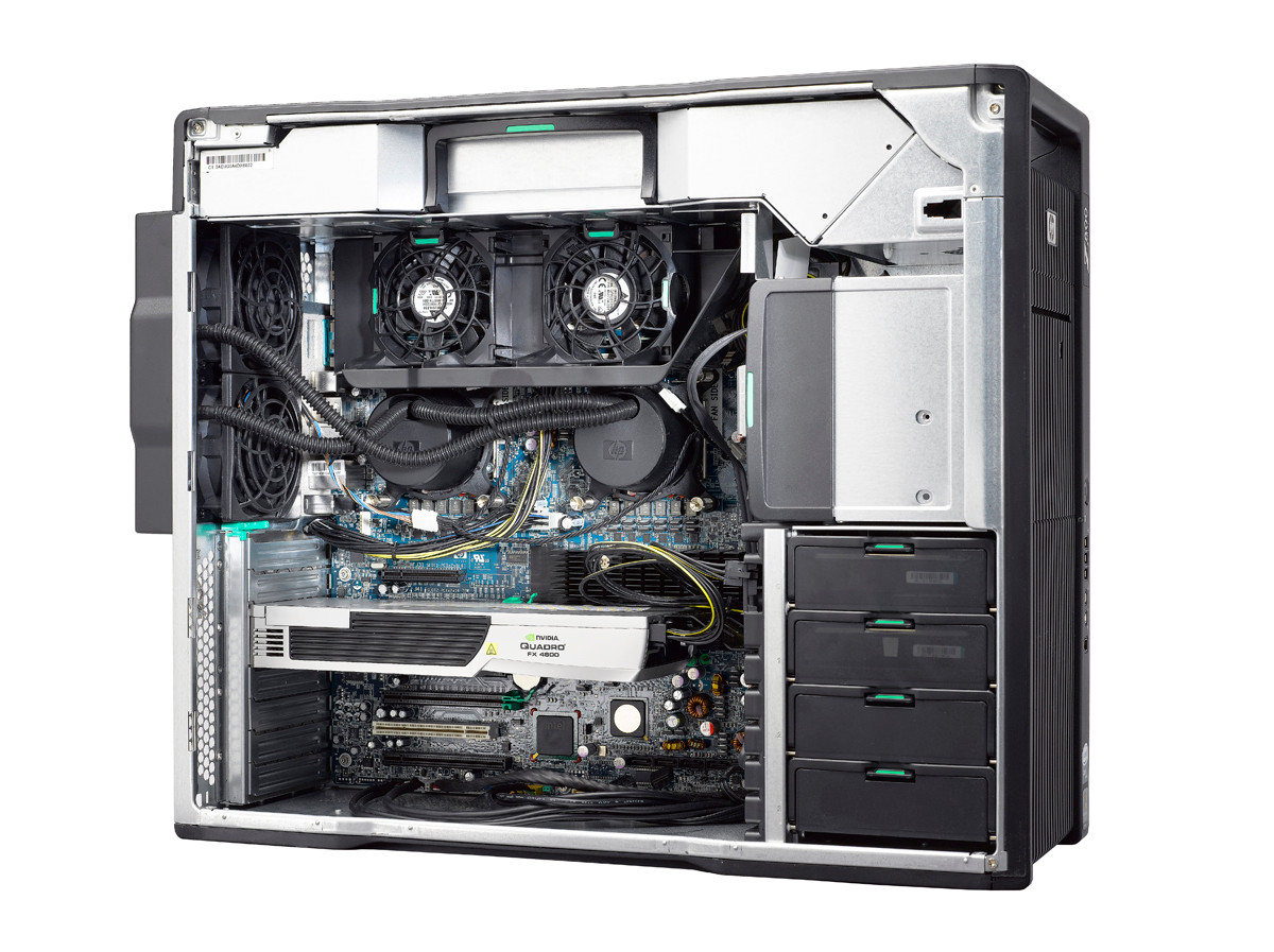 HP Z800 Workstation - inside look