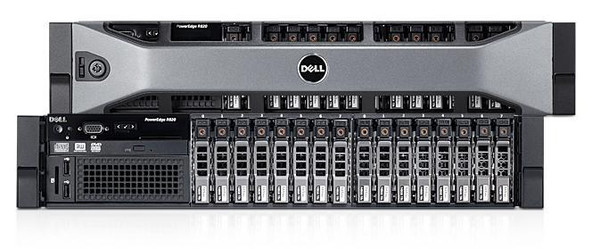 DELL PowerEdge R820 - Front and rear View