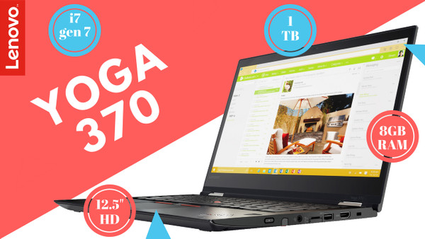 Lenovo Yoga 370- Core i7-7500U - 1TB HDD
