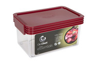 ClickClack Airtight Storer 1qt. - Red