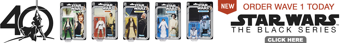 Star Wars 40th Anniversary Black Series Wave 1 Order