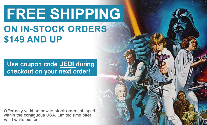Free Shipping on in-stock orders $149 and up