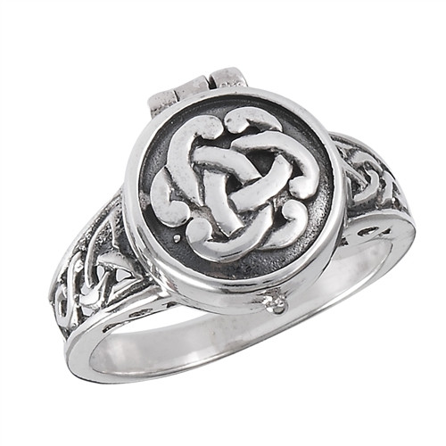 Sterling Silver Celtic Poison Ring