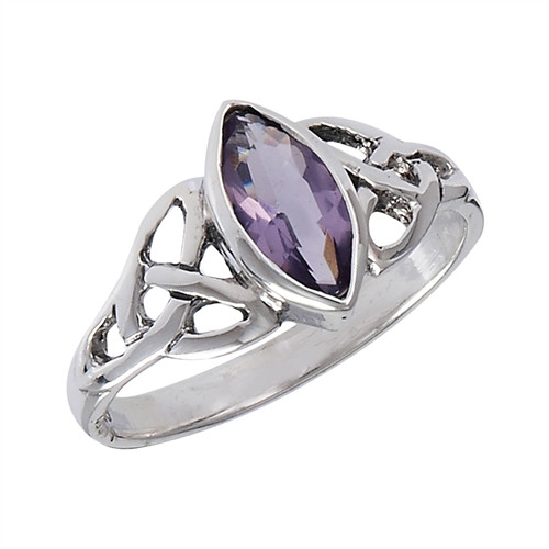 Sterling Celtic Amethyst Ring