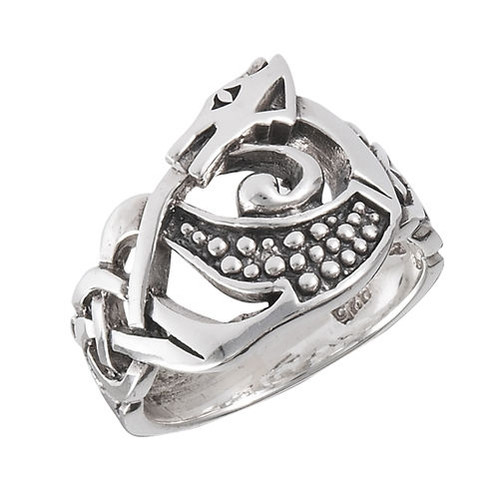 Sterling Celtic Dragon Ring