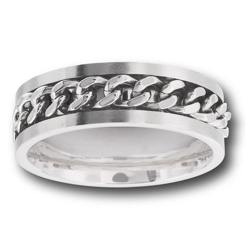 In Chains Stainless Steel Ring