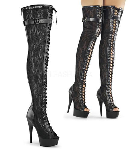 Lace Up Lace Boots