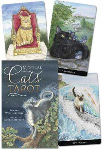 Mystic Cats Tarot Deck and Book