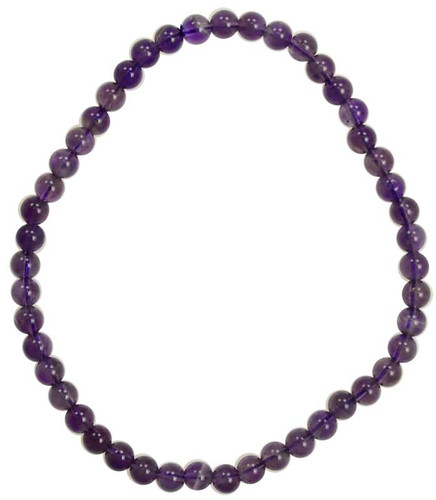 Beaded Amethyst Stretch Bracelet