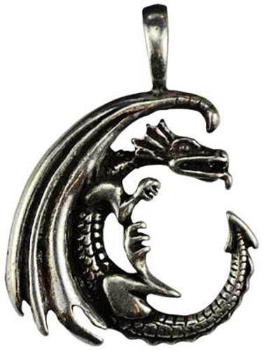 Dragon in the Moon necklace