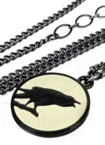 Caw at the Moon Necklace