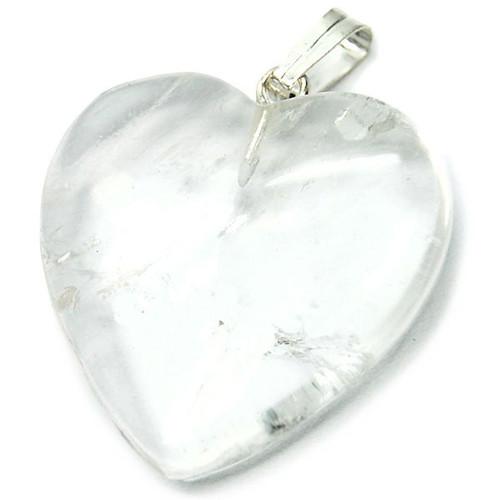 """3/4"""" Quartz Heart Necklace"""