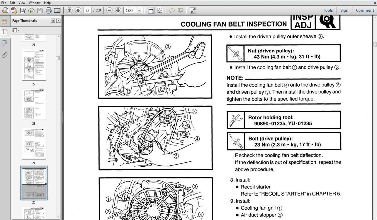 Generator And Tiller Service Repair Parts Operation Manuals