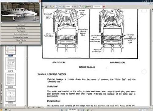 Cessna 335 maintenance service manual set + engine
