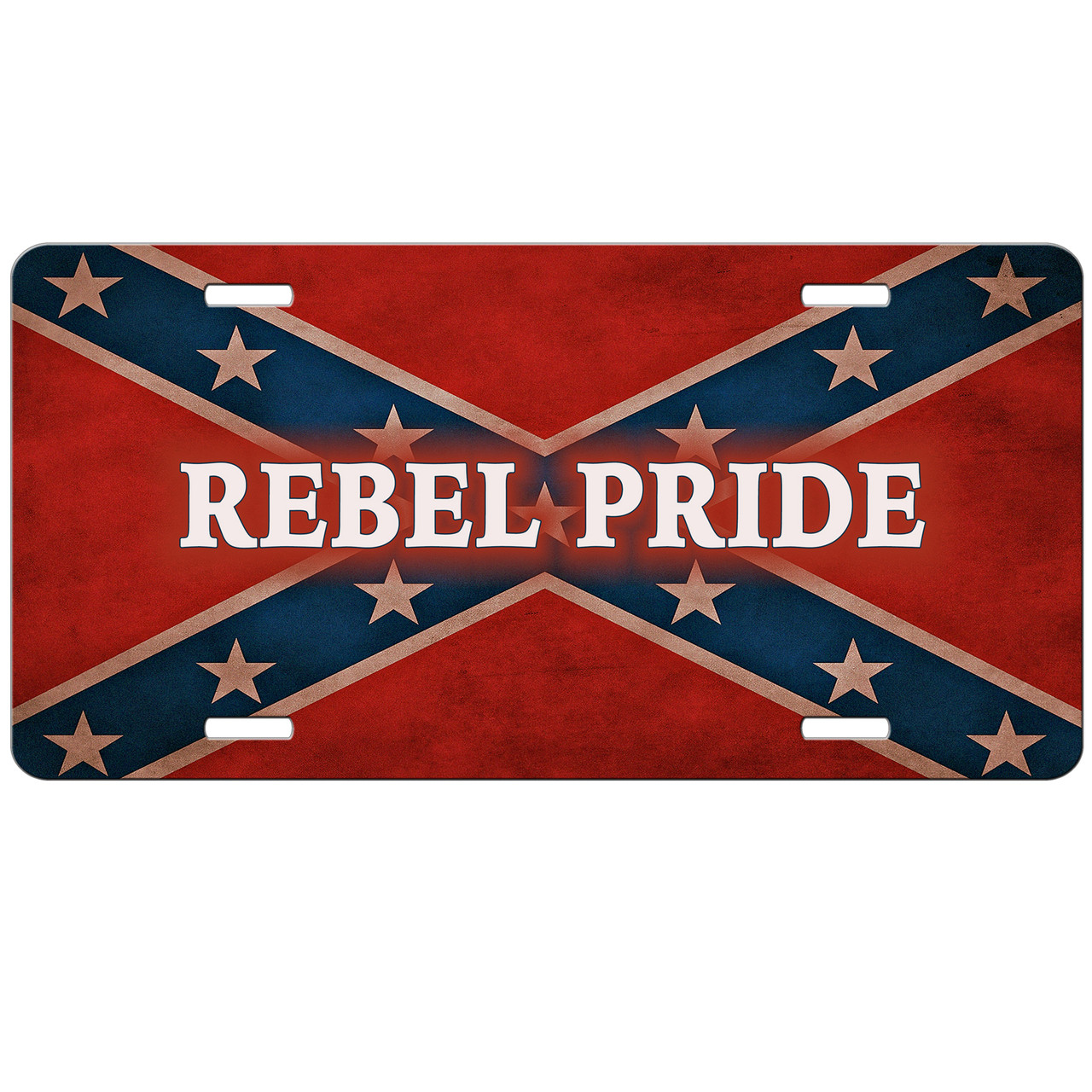 Aluminum License Plate Frame >> Rebel Flag Pride License Plate Redneck Confederate Flag Auto Tag - SimplyCustomized