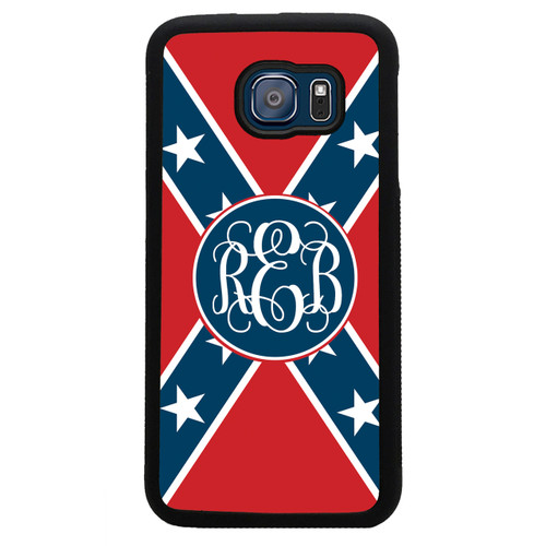 rebel flag confederate monogrammed samsung galaxy case - personalized
