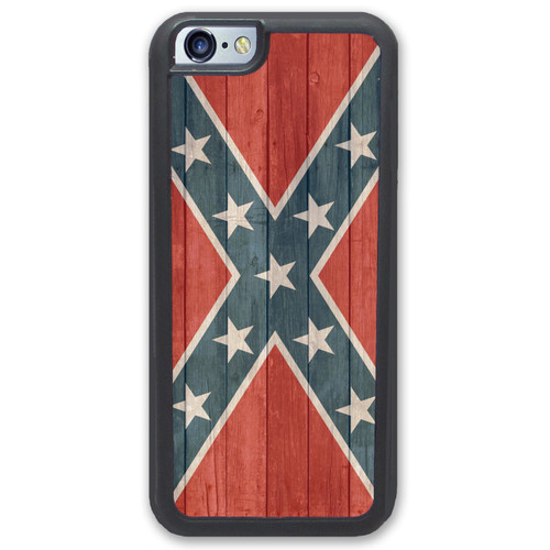 rebel flag iphone case distressed wood - confederate flag iphone case