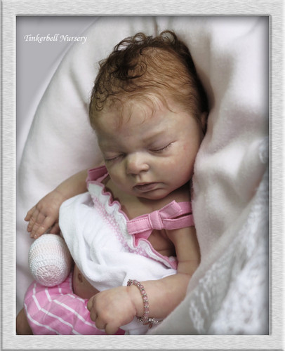 Indra Asleep Vinyl Doll Kit by Reva Schick