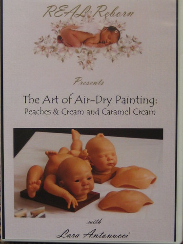 Art of Air-Dry Painting Peaches & Cream & Carmel Cream DVD By Lara Antonucci