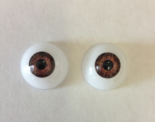 Acrylic 20mm Light Brown Eyes