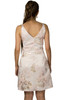 Light-Weight Brocade Metallic Fit And Flare Dress