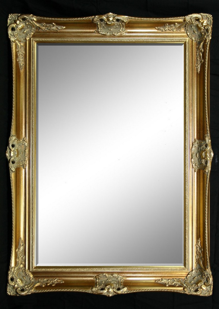Classic Antique Ornate Victorian Mirror Gold Print