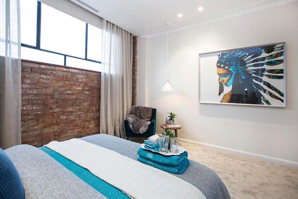 TV Show The Block 2016   Chris & Kim's guest bedroom