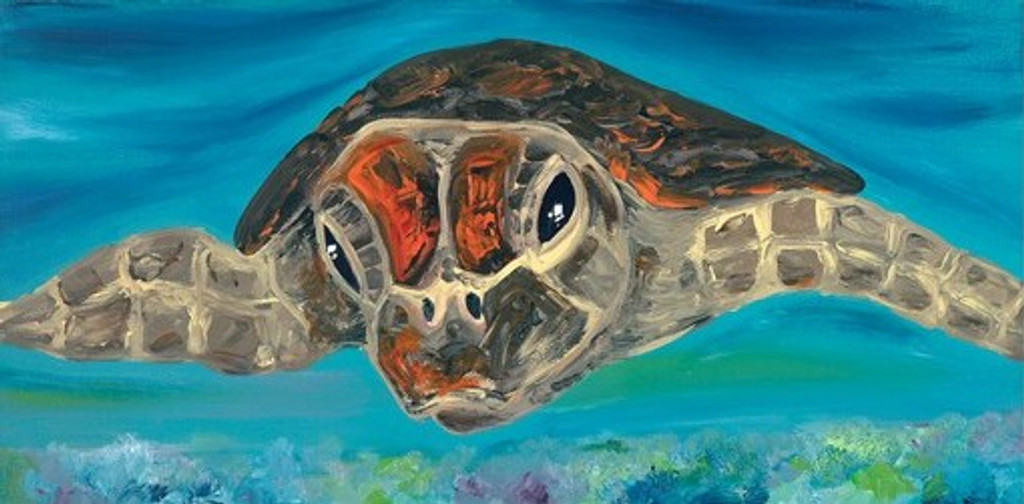 Australian Modern Marine Art   Turtle   Print Decor Gallery