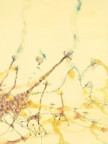 Giraffes and Balloon | John Olsen | Print Decor