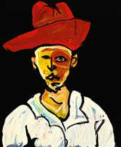 Print Decor | Adam Cullen | Man in Red Hat