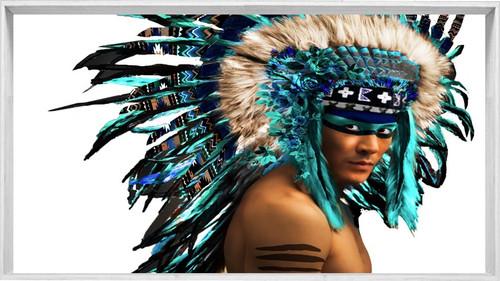 American Indian Headdress   Framed Designer print