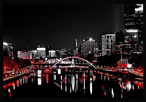On Trend Image | Southbank in Red | Print Decor, Melbourne