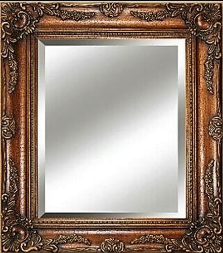 Big Ornate Mirror  Dark Copper Large