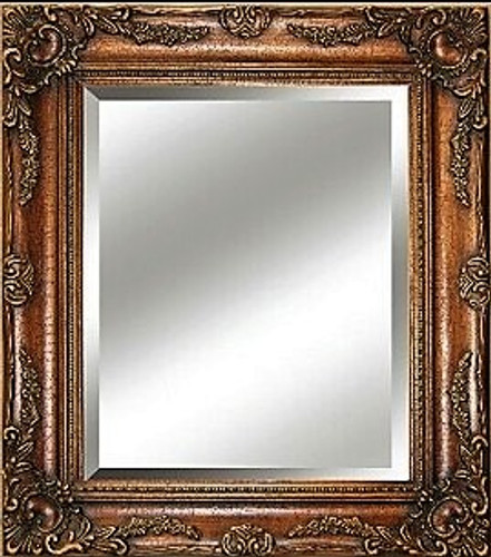Big Ornate Mirror  Dark Copper
