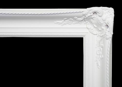 Empty Frame Classic Antique Victorian  White