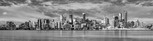 Photography | Melbourne Mega Panorama BW | Nick Psomiadis