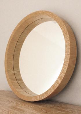Light Wood Circle Mirror Rustic Mirror