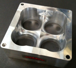 """SS4500-2.2AL - 2"""" tall Aluminum Super Sucker Spacer for 1250 cfm carbs with 2.200"""" bore"""