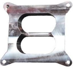 ST4150-2AL Street Sweeper carb spacer for dual plane intakes without a notch/cutout in the plenum divider.