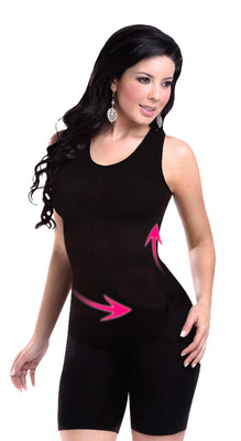 Seamless Body Shaper Short Black