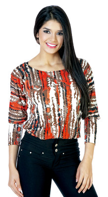 2 Layer Compression Blouse - Orange
