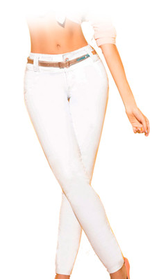 Latin Fit Jeans by Esencial - Camelia