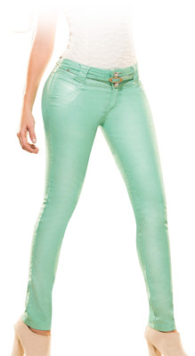 Latin Fit Jeans by Esencial - Owen Mint Green