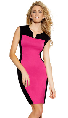 Vneck Fucshia Sexy Dress