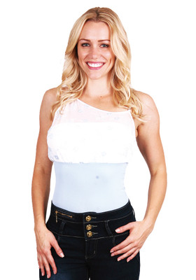 Body Shaper Sky-Blue Tank Top
