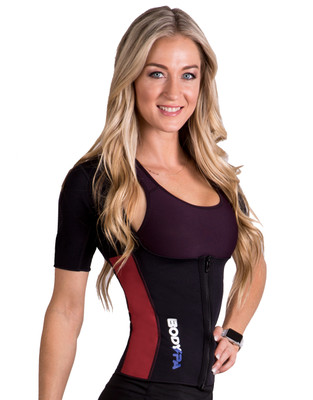 BODY SPA AQUA  Neoprene Vest with Sleeves  for Exercise Gym Weight Loss for woman 14264