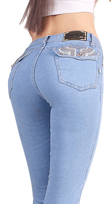 Extreme Shape Butt Lifter Tummy Control  boot cut Jeans for Women  Colombian Style Low Rise Skinny Comfortable Jeans Womens Levanta Cola 12677