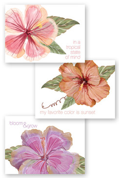 Tropical Floral Collection Note Cards