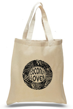 Coconut Lover Cotton Tote Bag
