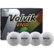 Volvik Vivid Matte White Golf Balls
